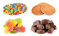 Different colorful sweets Royalty Free Stock Images