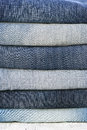 Different colors jeans Royalty Free Stock Photo