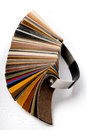 Different colors of leather in a row Stock Photos