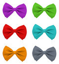 Different colour bow ties Stock Photography