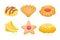 Different cookie homemade breakfast bake cakes isolated and tasty snack biscuit pastry delicious sweet dessert bakery