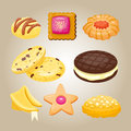 Different cookie homemade breakfast bake cakes and tasty snack biscuit pastry delicious sweet dessert bakery