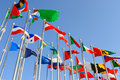 Different countries flags Royalty Free Stock Photography