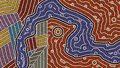 Different cultures a illustration based on aboriginal style of dot painting depicting Royalty Free Stock Images