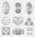 Different cuts of a diamonds Stock Image