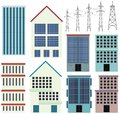 Different designs of office buildings