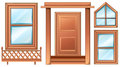 Different door designs illustration of the on a white background Stock Images