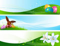 Different Easter banners Royalty Free Stock Photo
