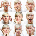 Different facial expressions Royalty Free Stock Photo
