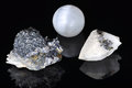 Different forms and minerals Stock Photography