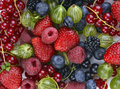 Different fresh berries as background Stock Photo