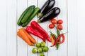 Different fresh seasonal vegetables