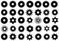 Different gear shapes Royalty Free Stock Photo