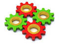 Different gears together 3d Stock Photography