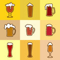 Different glasses of beer Royalty Free Stock Photo