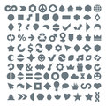Different grayscale flat web icons set made on music, environment Royalty Free Stock Photo