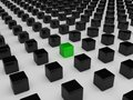 Different green cube Royalty Free Stock Photography