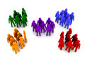 Different groups of people concept d illustration Royalty Free Stock Photo