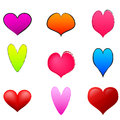 Different hearts vector illustration Royalty Free Stock Image