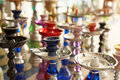 Different hookahs - asian street marketplace Royalty Free Stock Photos