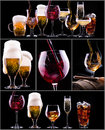 Different images of alcohol isolated Stock Image