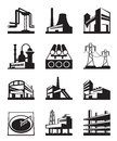Different industrial construction types of vector illustration Stock Photography