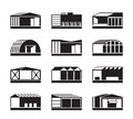 Different Industrial warehouses