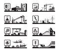 Different industries with logo
