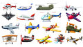 Different kind of aircrafts Royalty Free Stock Photo