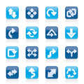 Different kind of arrows icons Stock Photo