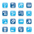 Different kind of business and industry icons Royalty Free Stock Image