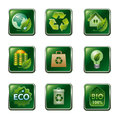 Different kind of eco and bio icon set Stock Image