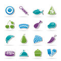 Different kind of food icons Royalty Free Stock Image