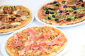 Different kind of pizzas Royalty Free Stock Photo