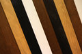 Different kind of wooden laths close up may be used as background Stock Image