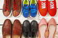 Different kinds of footwear. Royalty Free Stock Photo
