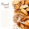 Different kinds of fresh bread Royalty Free Stock Photo