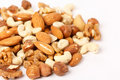 Different kinds of nuts Royalty Free Stock Photo