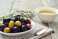 Different kinds of olives Stock Photography