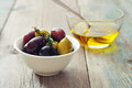Different kinds of olives Royalty Free Stock Photo