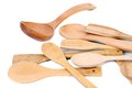 Different kitchen wooden utensils cutlery. Royalty Free Stock Photo