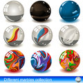 Different marbles Stock Photos
