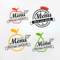 Different menu labels design set vector lineart concept Royalty Free Stock Photography