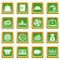 Different money icons set green