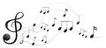 Different musical notes illustration of the on a white background Royalty Free Stock Image