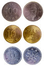 Different old japanese coins Royalty Free Stock Photo