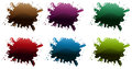 Different paint colors illustration of the on a white background Royalty Free Stock Photo