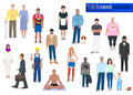 Different people, abstraction vector illustration