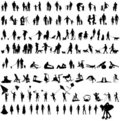 Different people silhouettes Royalty Free Stock Photo