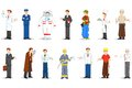 Different proffessional vector illustration of people of profession Royalty Free Stock Image